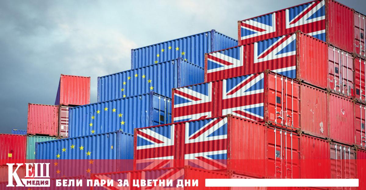 Според официалната статистика на Европейския съюз британският износ не се