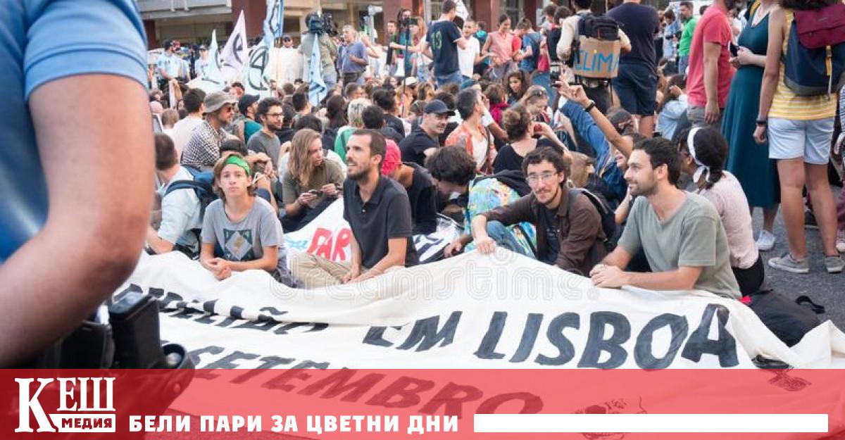 Миналата седмица организаторка на протест в Лисабон заяви, че личните